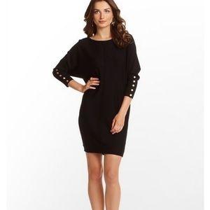 Lilly Pulitzer Black Oversized Wool Sweater Dress